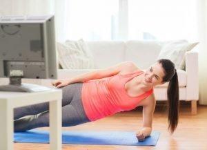 entrenamiento en casa mujer